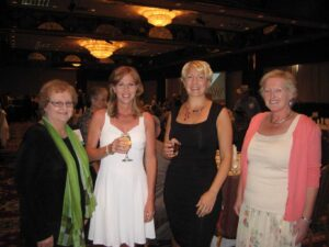 Author Candace Simar, Krista Rolfzen Soukup, Holly Lorincz, Macgregor Literary Agent, and Author Marcia Castle attending the Western Writers of America Award Banquet