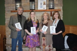 Chip Borkenhagen, Publisher, RiverPlace Press, Quinn Nystrom, author, Jean Borkenhagen, publisher, Krista Rolfzen soukup, Agent an Publicist
